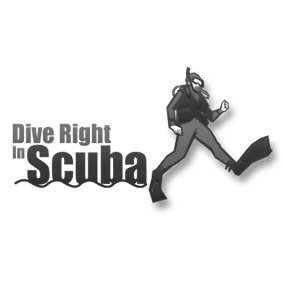 Dive Right in Scuba Logo