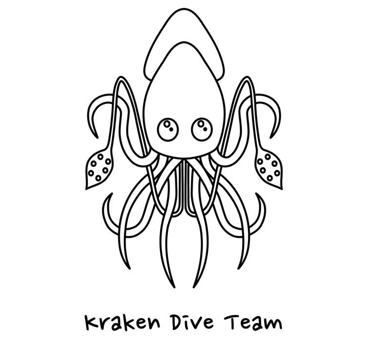Kraken Dive Team Logo