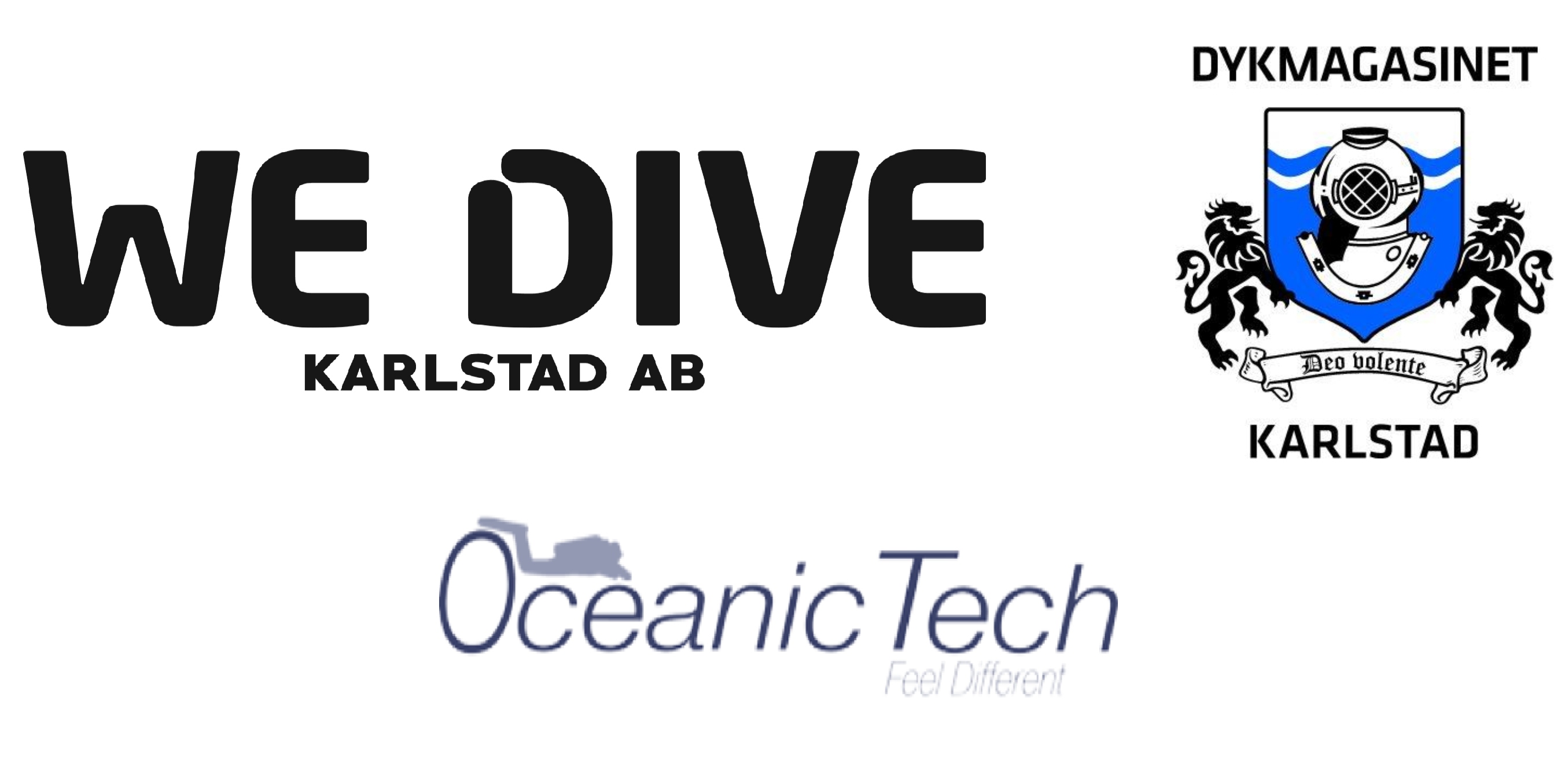 Dykmagasinet/Oceanic Tech – WeDive Karlstad AB Logo